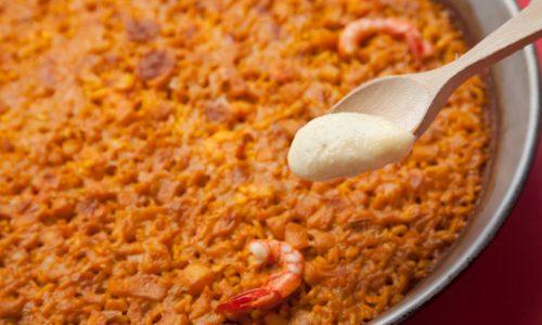 arroz marisco con ali oli