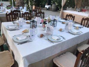 restaurante para celebrar una boda civil en Valencia - mesa montada